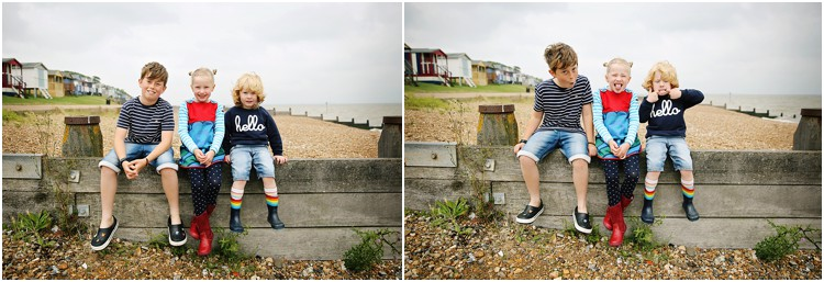 FAMILY KIDS PHOTOGRAPHY AT BEACH HUTS IN WHITSTABLE KENT