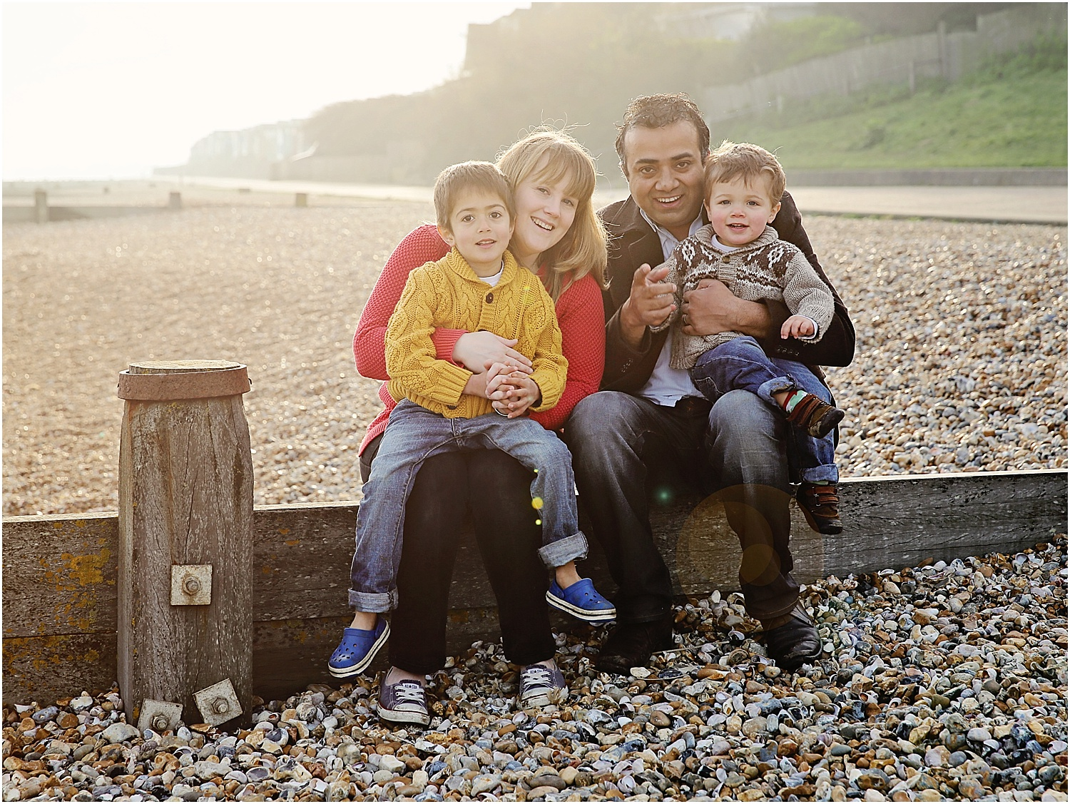 Whitstable beach photography family child portrait beach group
