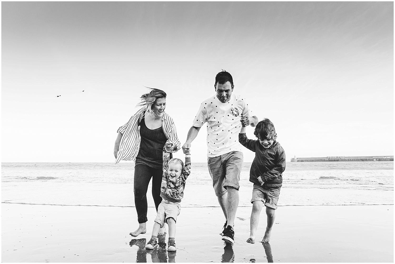 family on sunny sands beach folkestone kent family kids photographer