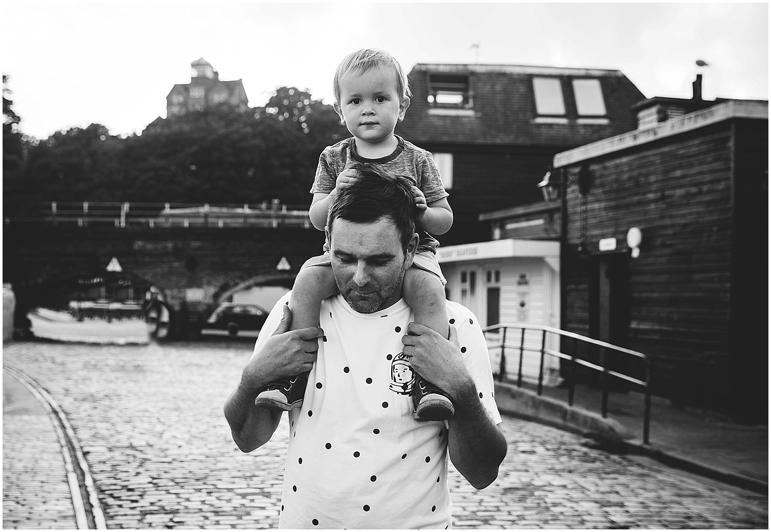 boy and father at folkestone harbour family photographer kent