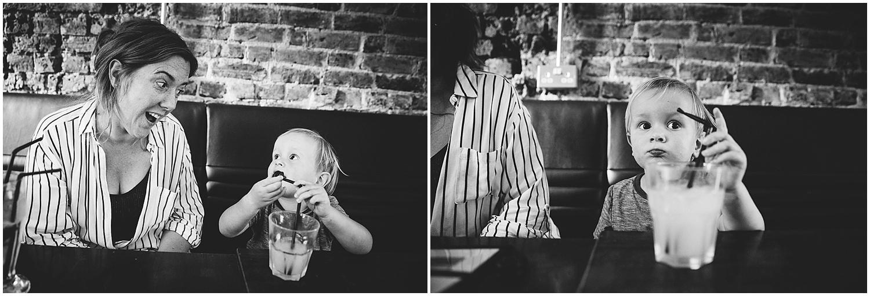 boy drinking milkshake Googie's folkestone kent family photography