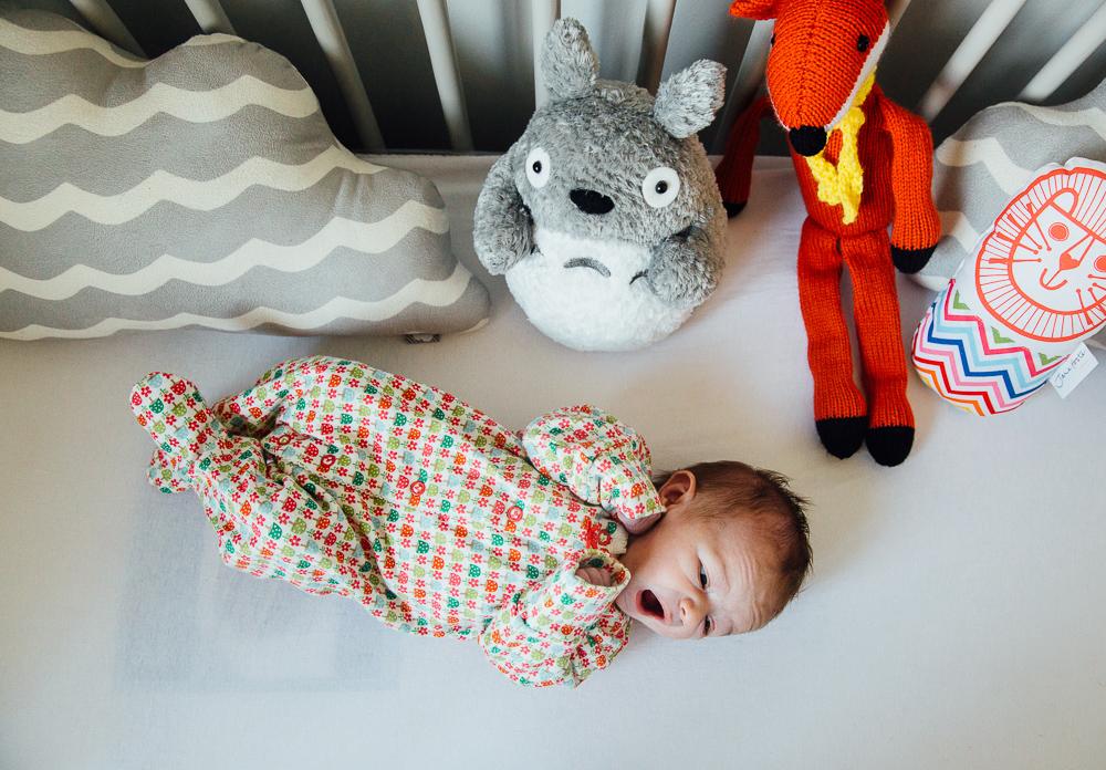 NEWBORN BABY GIRL IN COT, KENT PHOTOGRAPHER