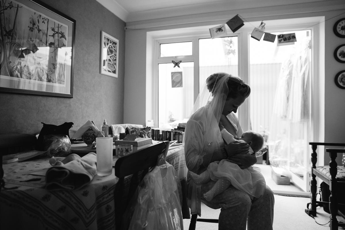 BRIDE BREASTFEEDING