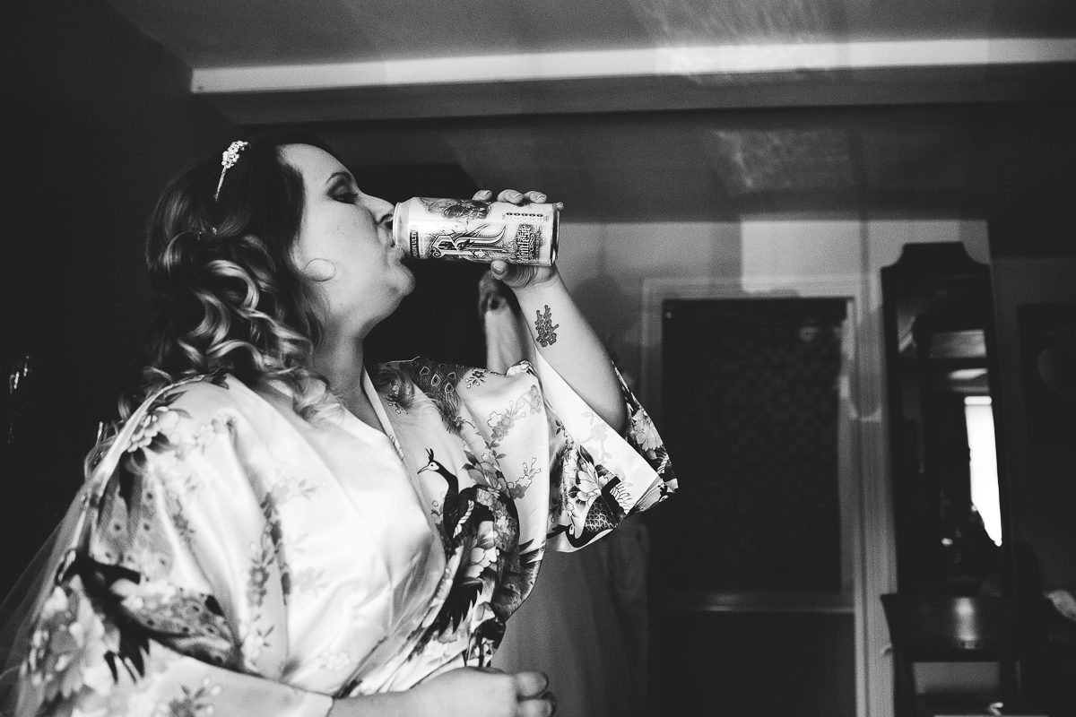 BRIDE DRINKING ENERGY DRINK RELENTLESS CAN