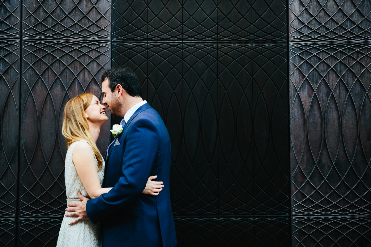 BRIDE AND GROOM PAUL SMITH SHOP LONDON WEDDING