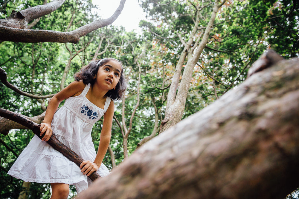 CHILD CLIMBING A TREE, FAMILY AND CHILDRENS PHOTOGRAPHER ST JOHNS WOOD LONDON