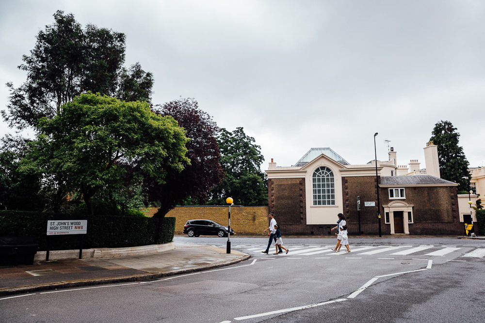 FAMILY AND CHILDRENS PHOTOGRAPHER ST JOHNS WOOD LONDON, FAMILY CROSSING ST JOHNS WOOD HIGH STREET