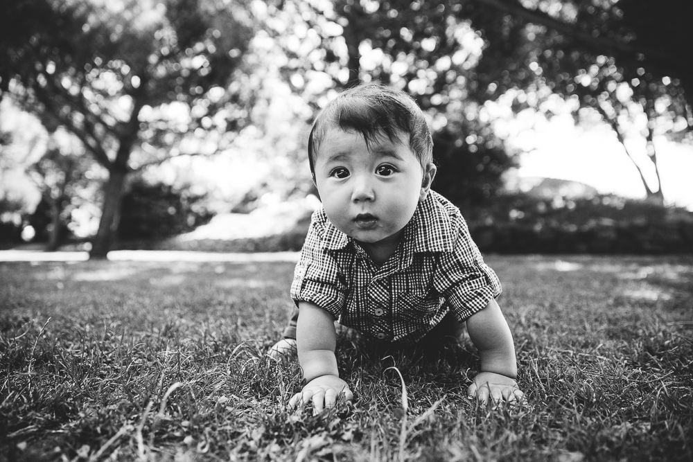 baby boy playing at the coastal park, folkestone, kent