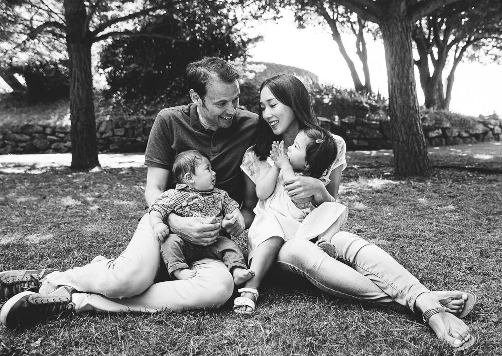 family portrait at the coastal park, folkestone kent