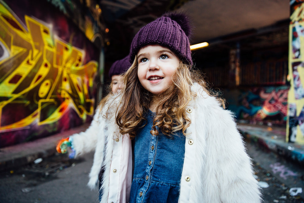 Leake street graffiti creative london family photographer
