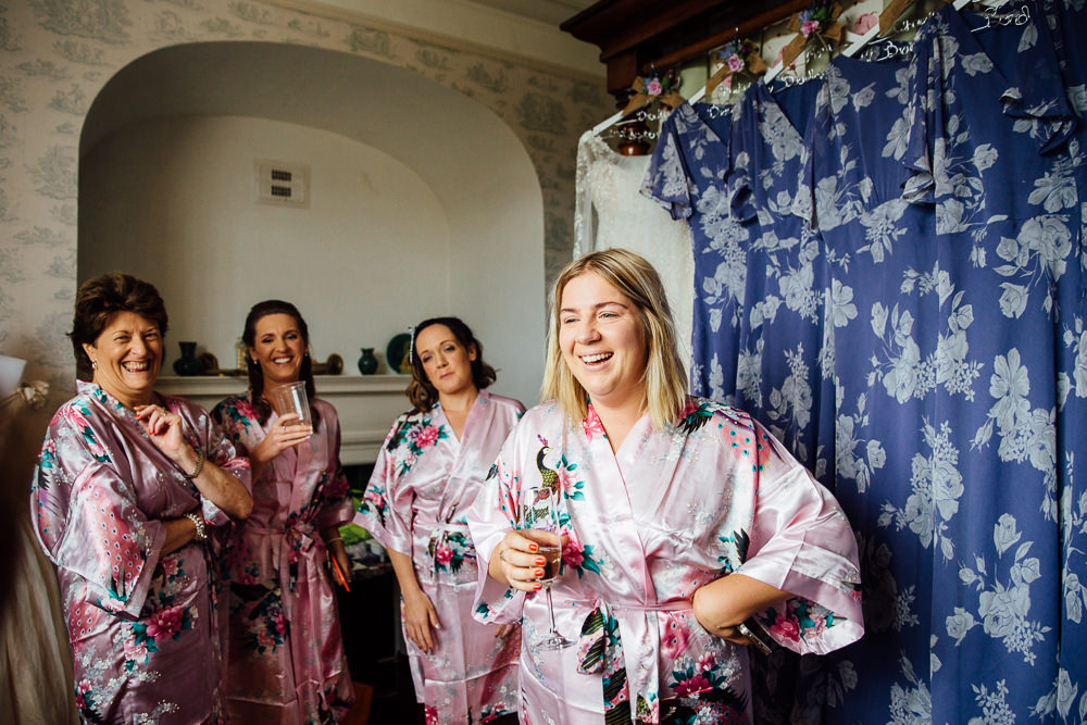 bridesmaids at bilsington priory kent wedding photographer