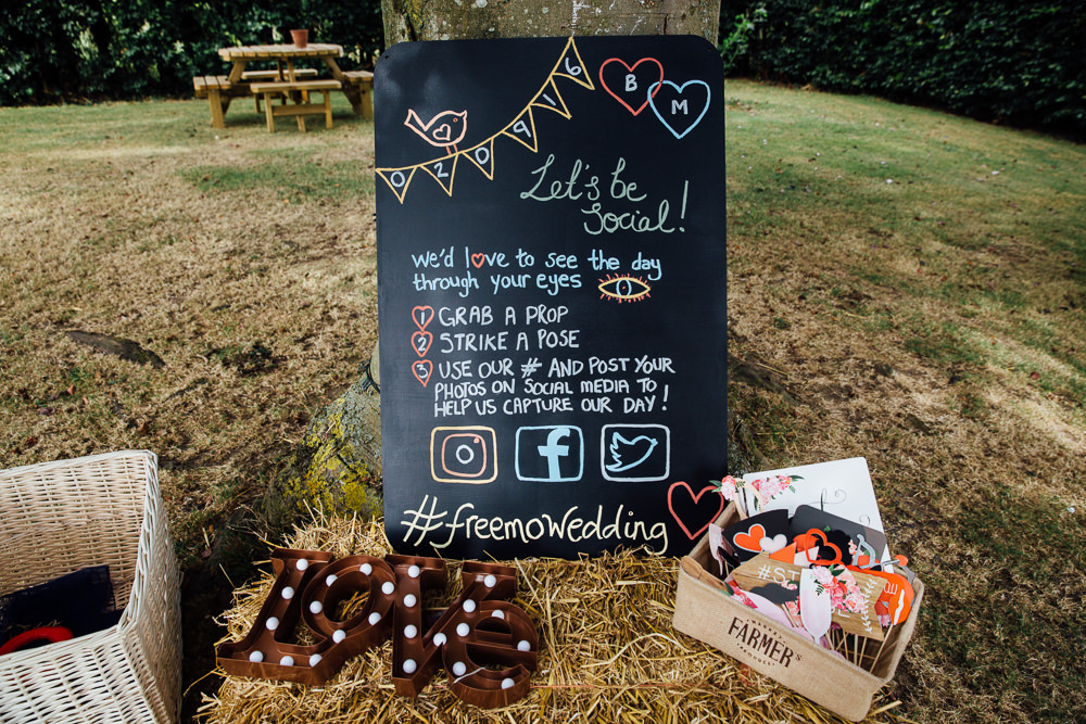 outdoor photo booth homemade bilsington priory kent wedding photographer