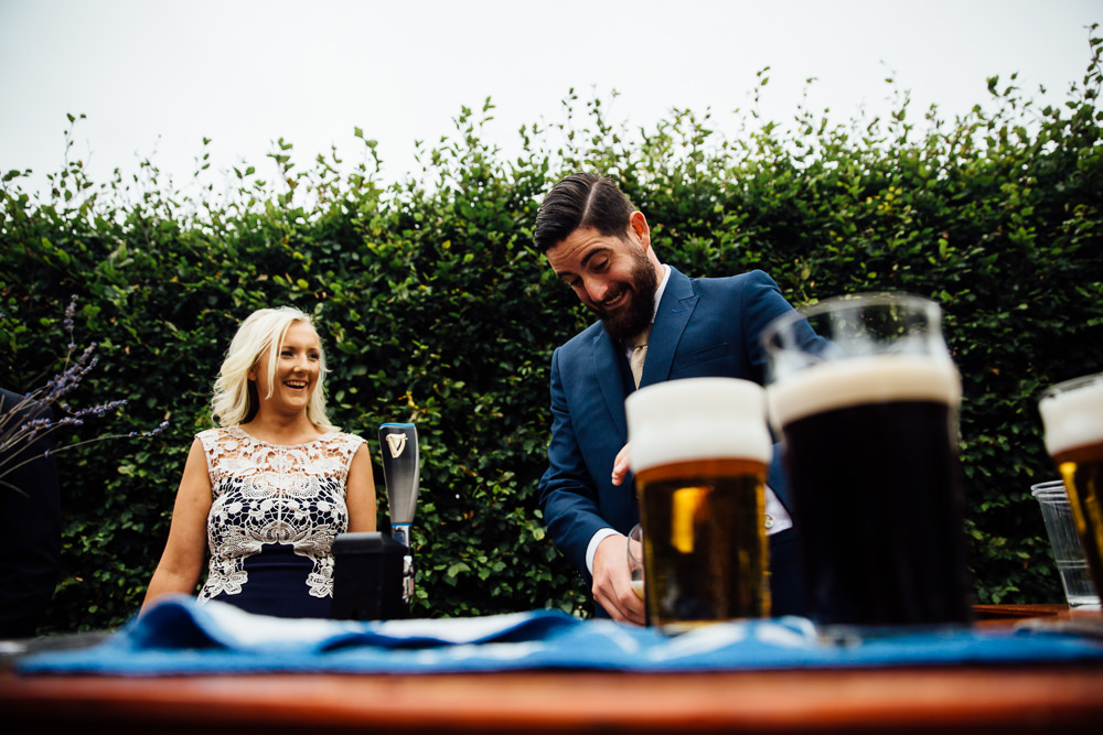 outdoor self service bar bilsington priory kent wedding photographer