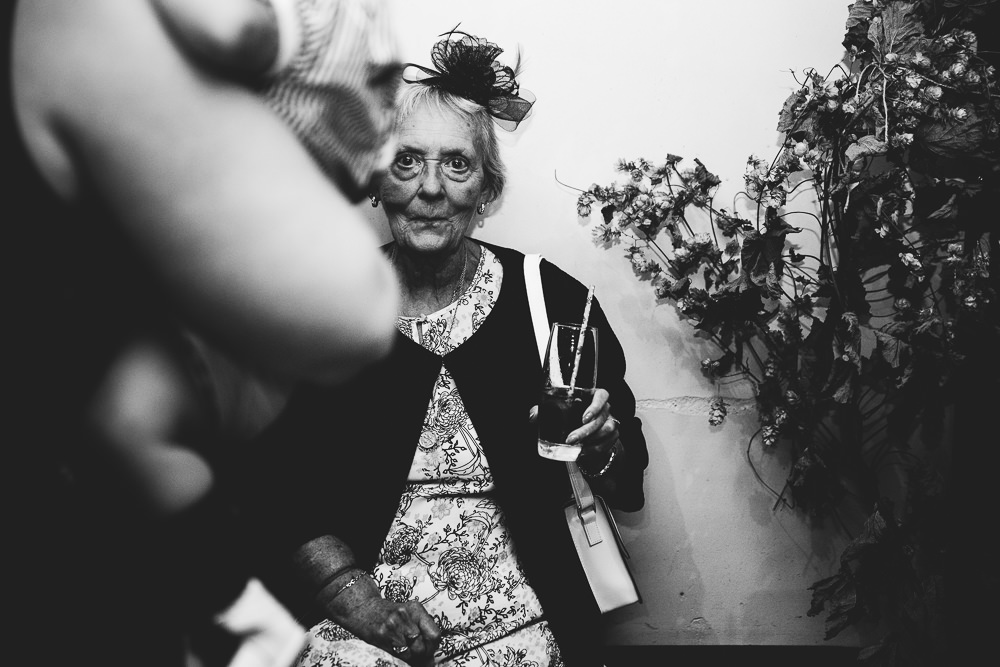 old lady wedding guest bilsington priory kent wedding photographer