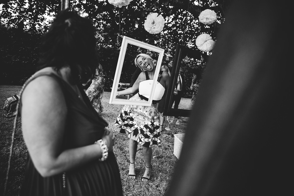 fun outdoor frames photo booth bilsington priory kent wedding photographer