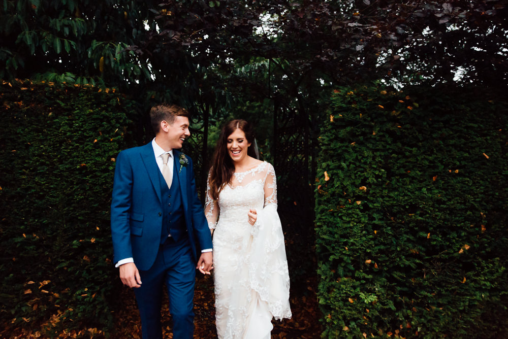 bride and groom outdoor portrait bilsington priory kent wedding photographer verina maggie sottero