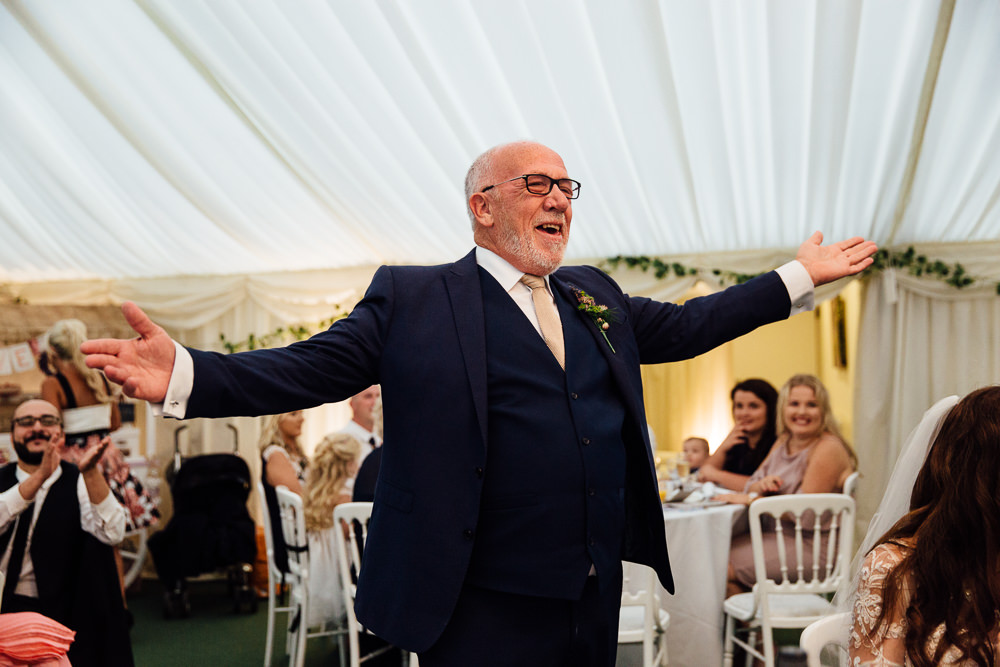 father of bride speech bilsington priory kent wedding photographer