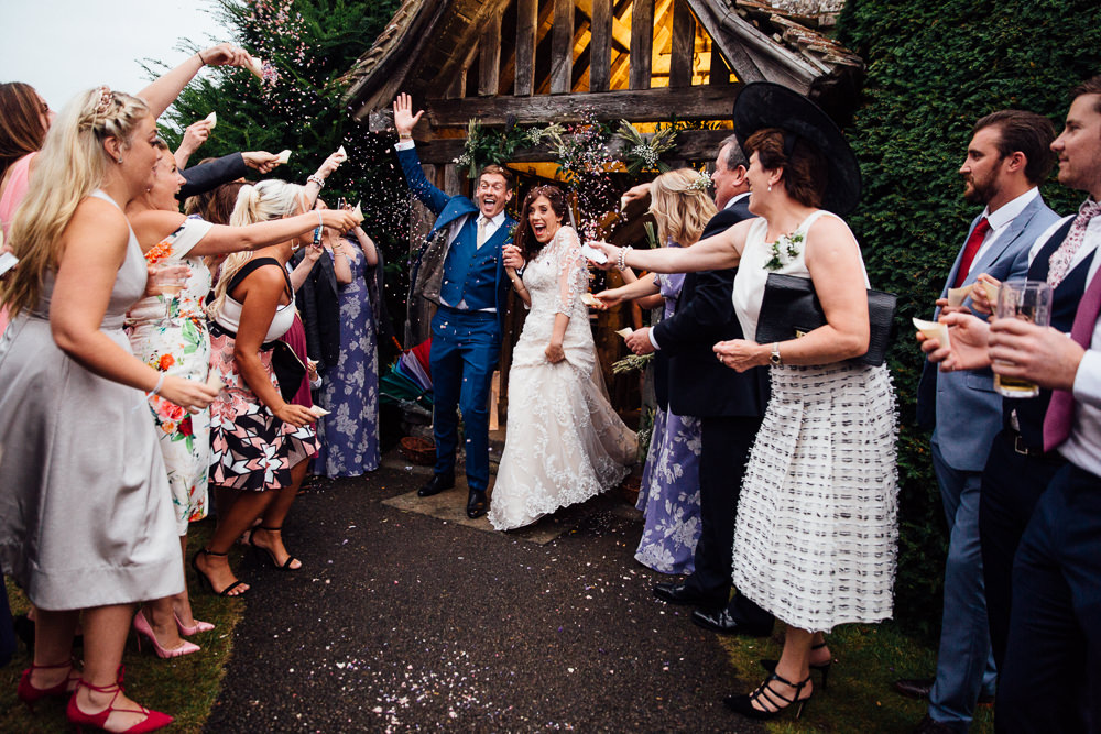confetti bilsington priory wedding photography