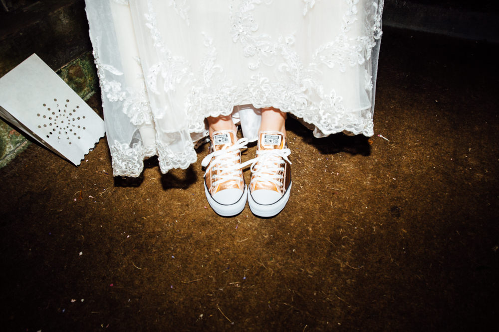 bride rose gold converse bilsington priory kent wedding photographer