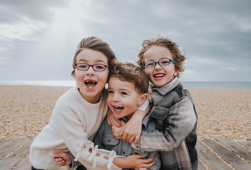 KENT PHOTOGRAPHER FAMILY PHOTOGRAPHY FOLKESTONE BEACH SIBLINGS