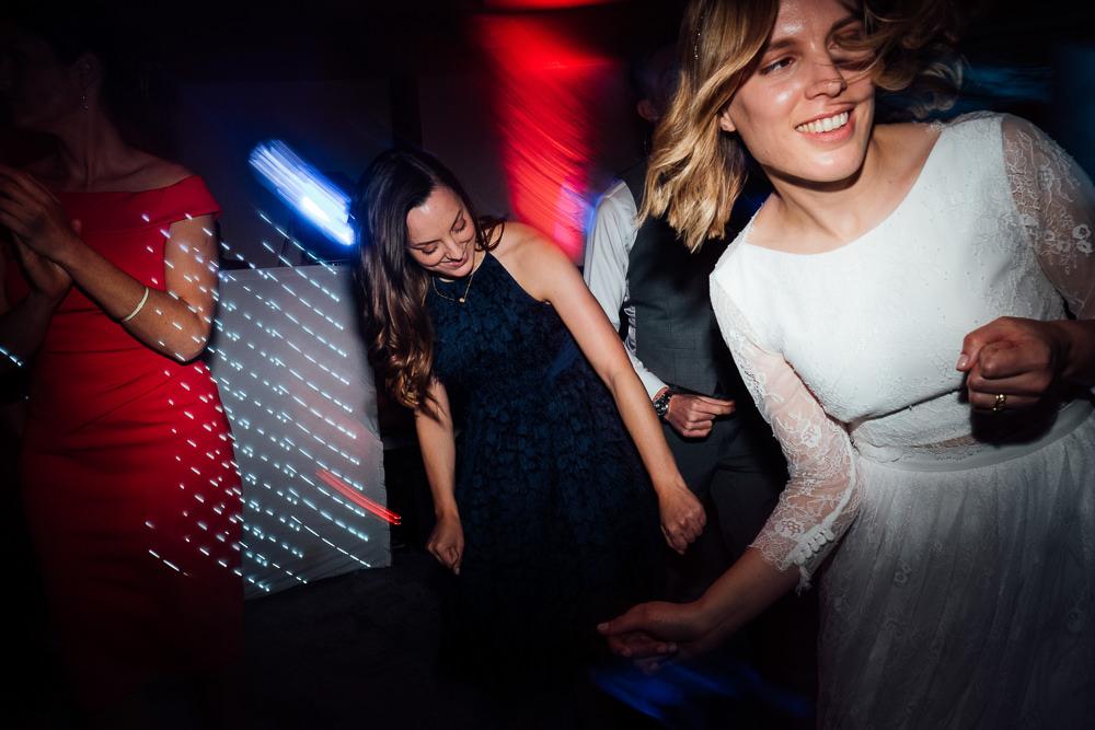 KENT PHOTOGRAPHER PINES CALYX DOVER WEDDING PHOTOGRAPHY DANCEFLOOR BRIDE DANCING DISCO