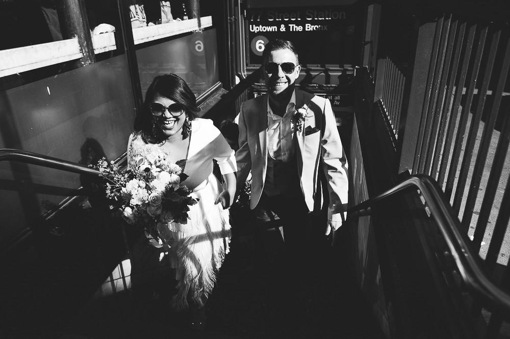 KENT PHOTOGRAPHER NYC NEW YORK WEDDING PHOTOGRAPHY BROOKLYN BRIDGE SUBWAY STATION BRIDAL PORTRAIT