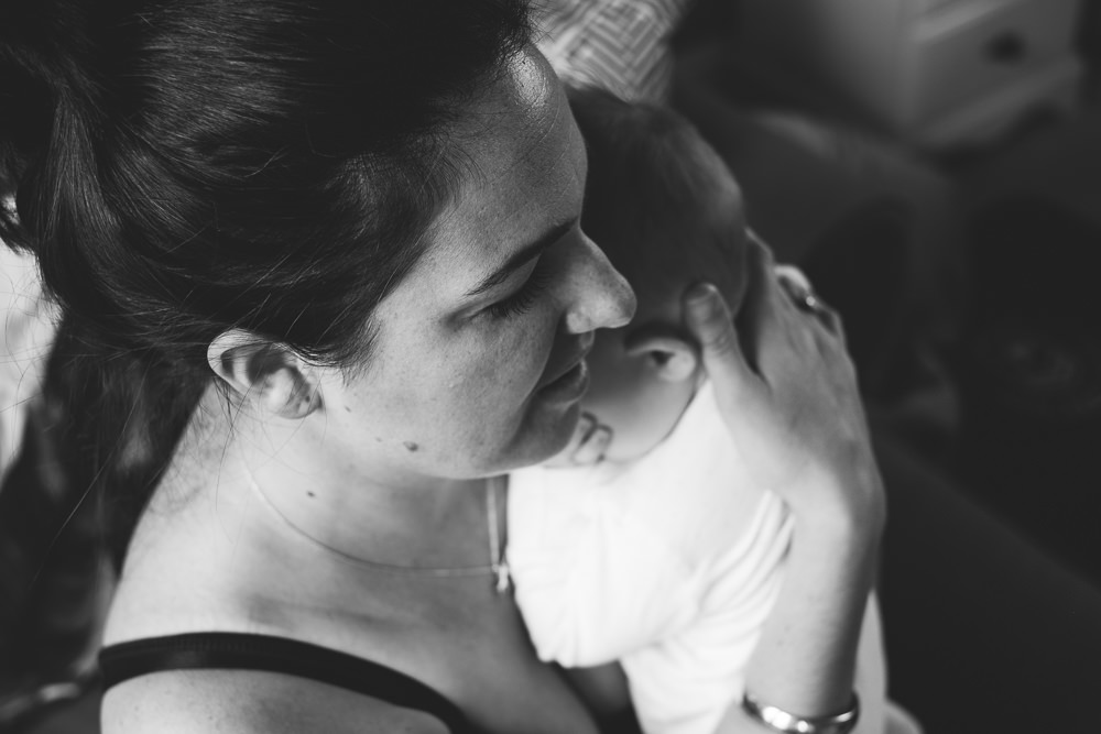 Godstone Surrey Family Photographer mother and baby daughter black and white portrait