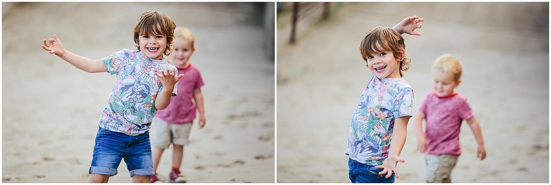 brothers on sunny sands beach folkestone kent family photography