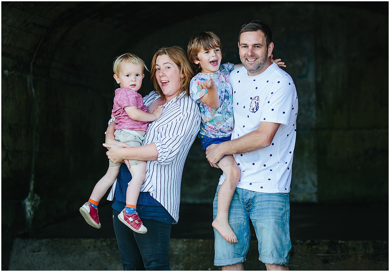 family portrait on sunny sands beach folkestone kent family photographer