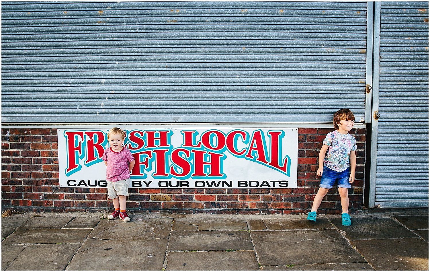 brothers at fish shop folkestone harbour BEST BEACHES IN KENT FOR PHOTOS