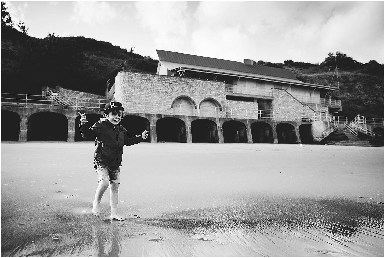boy on sunny sands beach folkestone kent family photography