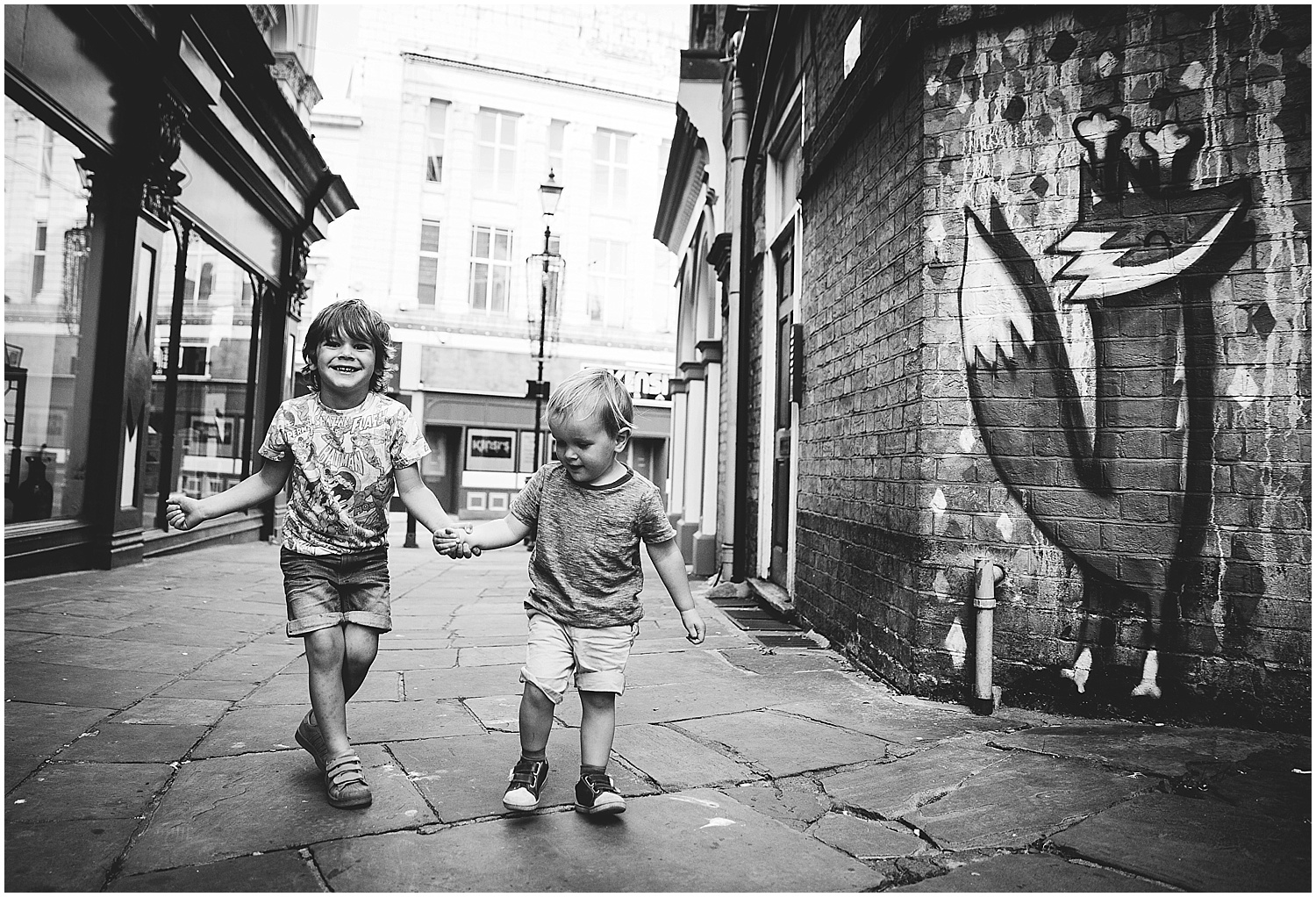 brothers with fox graffiti folkestone kent family photographer