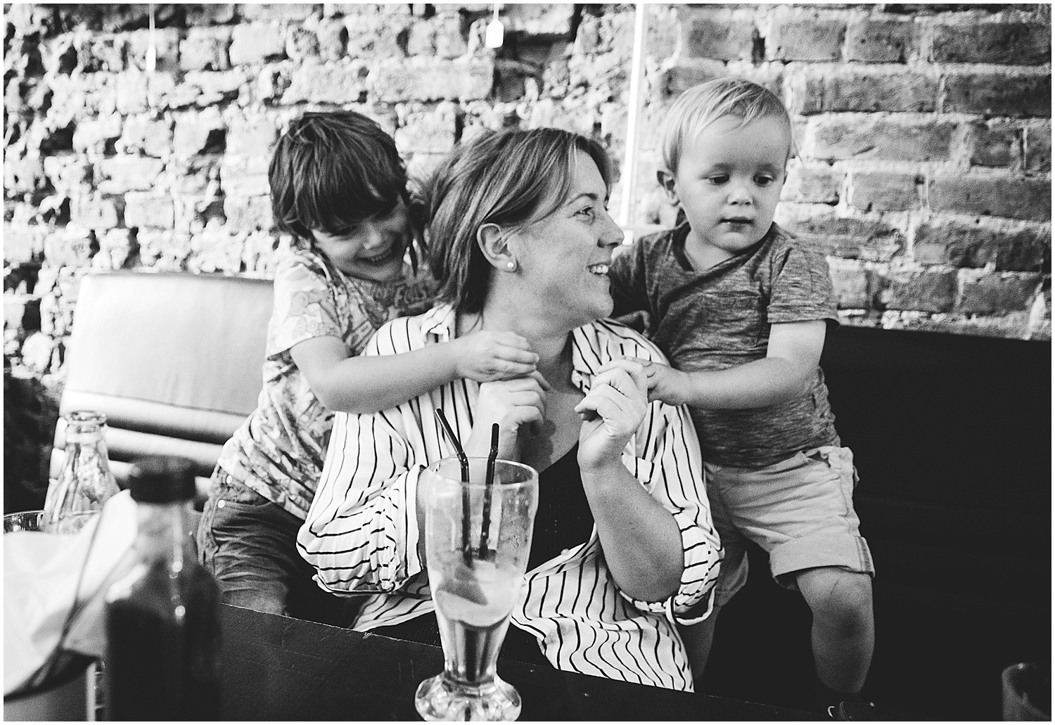 family drinking milkshake Googie's folkestone kent family photography