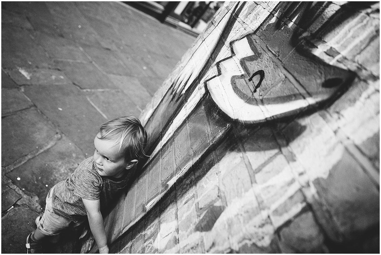 boy with fox graffiti folkestone kent family photographer