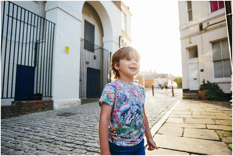 boy on cobbled street family photographer folkestone kent