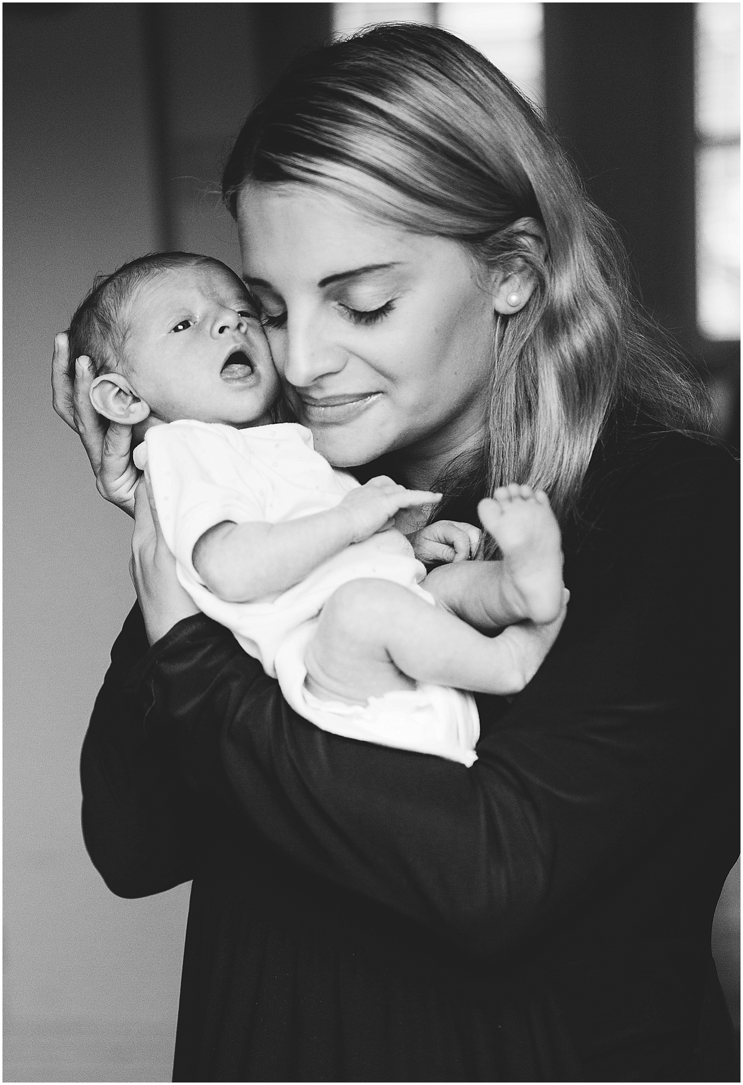 mother and newborn baby photography black and white Whitstable, Kent