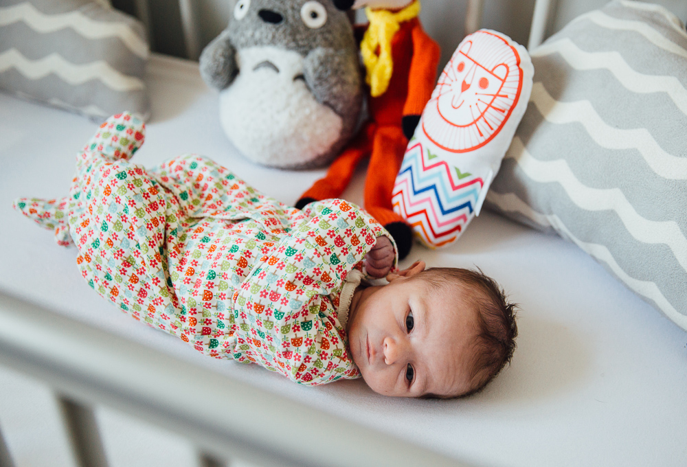 NEWBORN BABY GIRL IN COT, KENT PHOTOGRAPHER