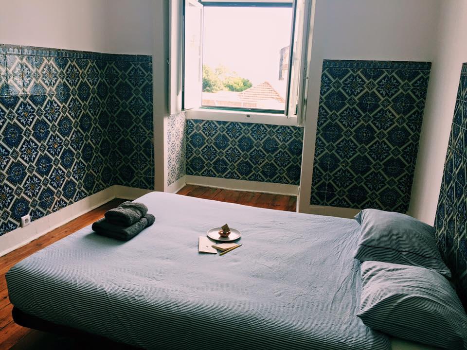 bedroom at surf office, lisbon lisboa portugal travel photography