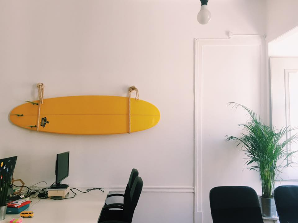 shared co-working office space at surf office, lisbon lisboa portugal travel photography