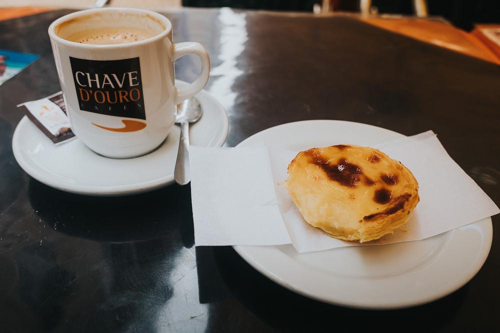 coffee and custard tart, pasteis de nata, lisbon lisboa portugal travel photography