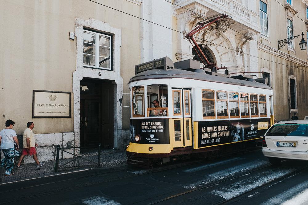 yellow tram, lisbon lisboa portugal travel photography