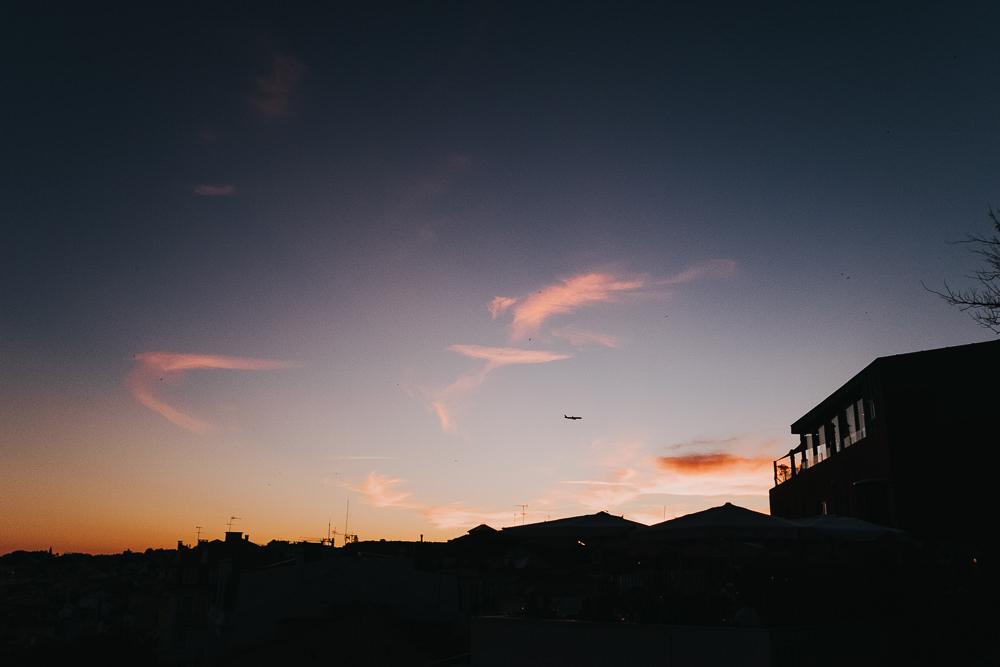 sunset view from Miradouro de Santa Catarina, lisbon lisboa portugal travel photography
