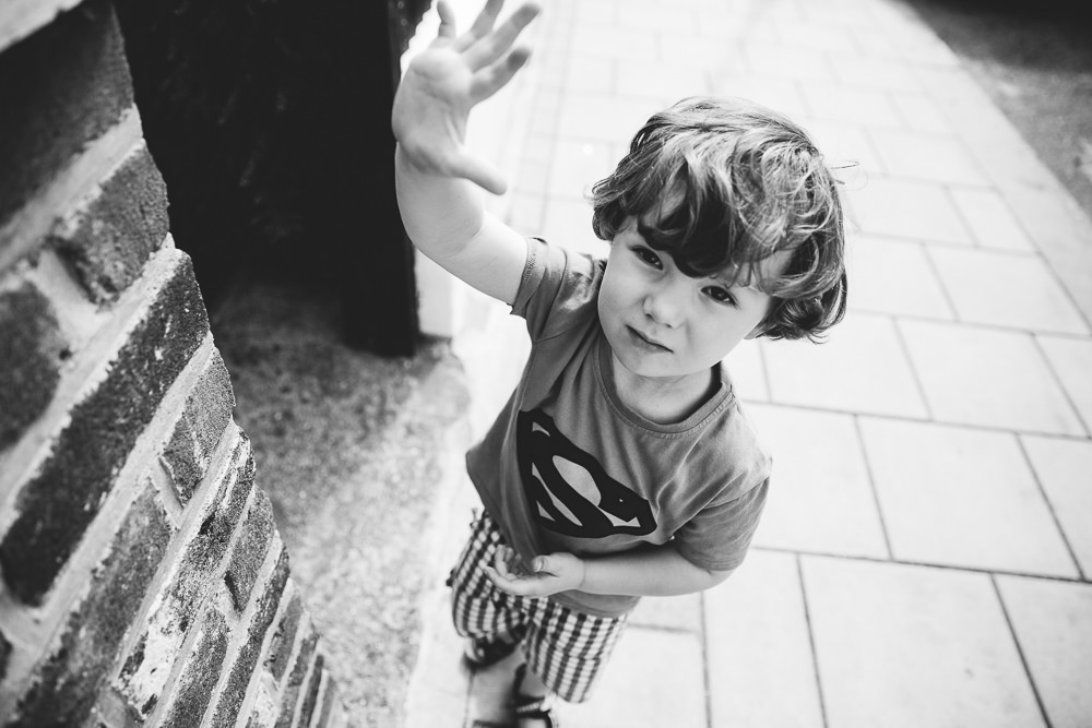 BALHAM LONDON FAMILY PHOTOGRAPHY - BLACK AND WHITE BOY