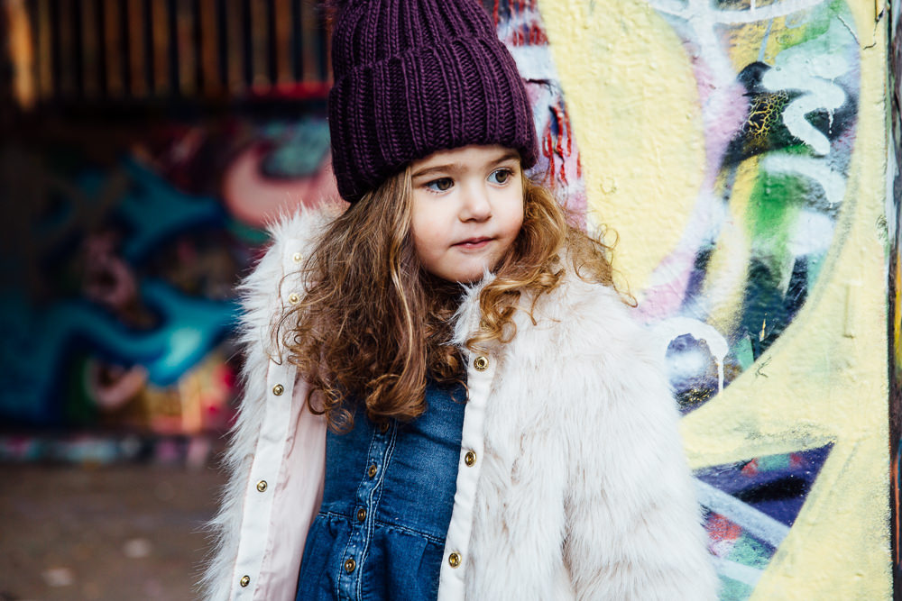 Leake street london graffiti family kids photographer