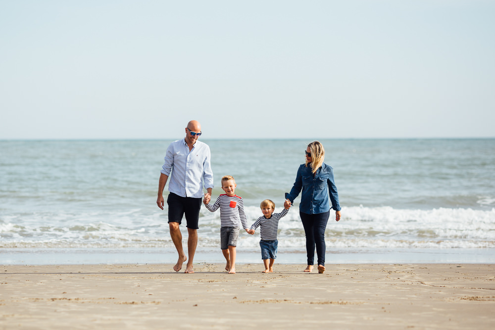 family portrait sunny sands beach - Family Photographer Kent