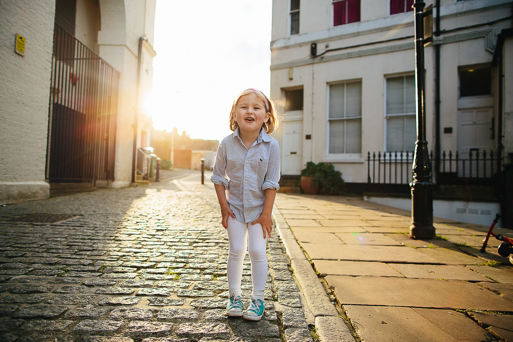 LITTLE GIRL BACK LIT GOLDEN HOUR FOLKESTONE - KENT FAMILY PHOTOGRAPHER