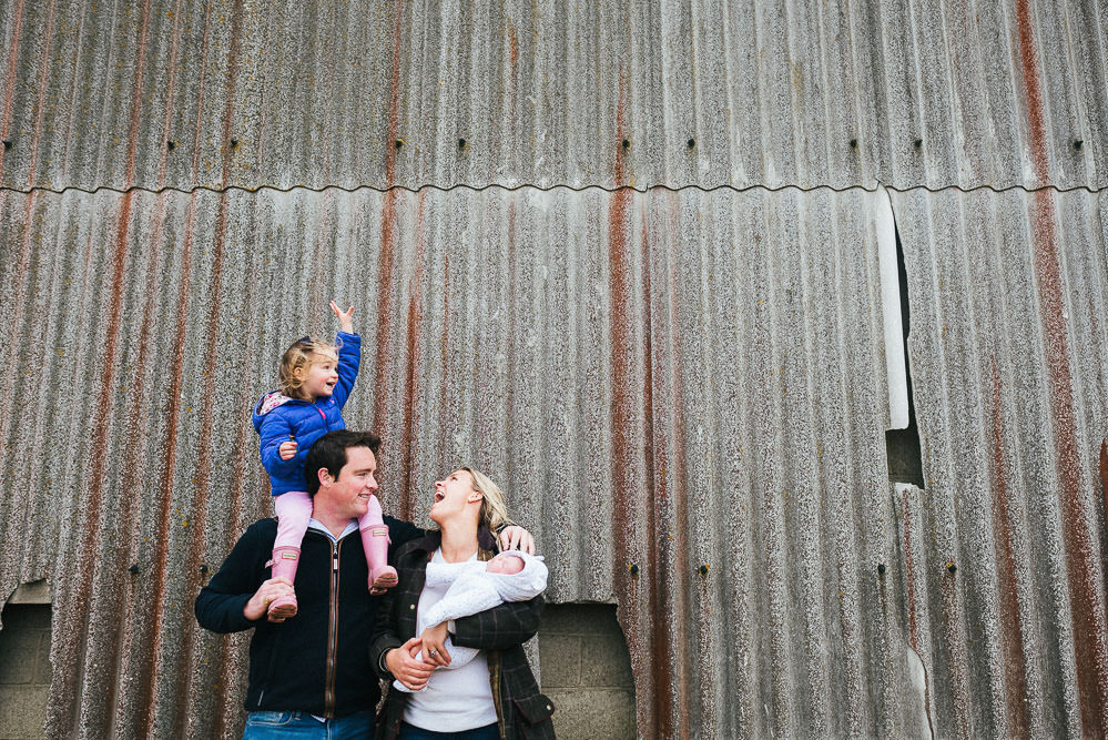 FARM FAMILY PHOTOGRAPHER KENT AND LONDON BARN PHOTO GROUP PORTRAIT