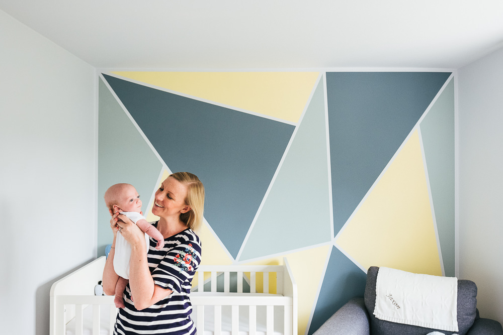 NEWBORN PHOTOGRAPHER LONDON AND KENT MUM AND BABY NURSERY GRAPHIC WALL PORTRAIT