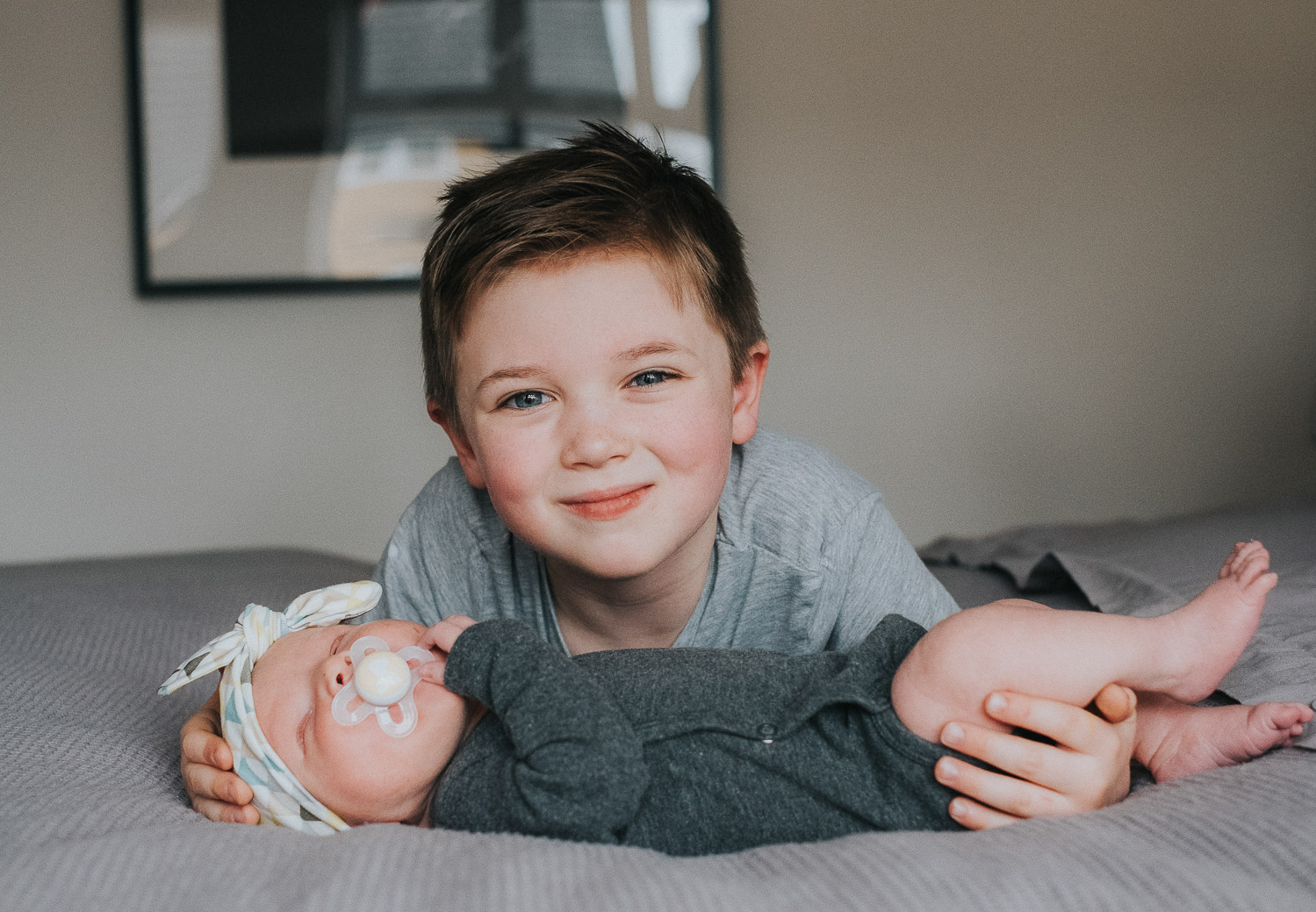 SAME SEX FAMILY PHOTOGRAPHY NEWBORN BABY WITH OLDER BROTHER