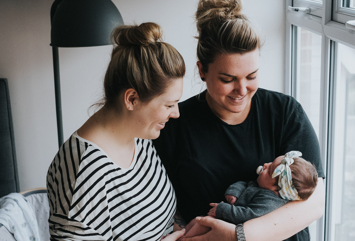 SAME SEX FAMILY PHOTOGRAPHY NEWBORN BABY LESBIAN MUMS MOTHERS